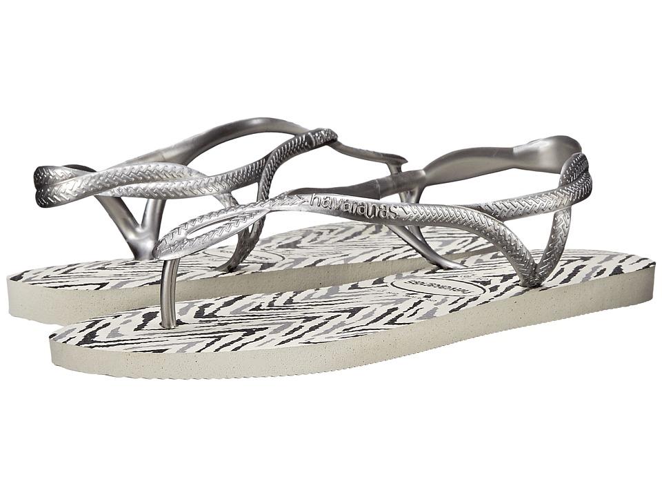 1951ecc2f502 ... UPC 887252249230 product image for Havaianas - Luna Animals Flip Flops ( White Silver)