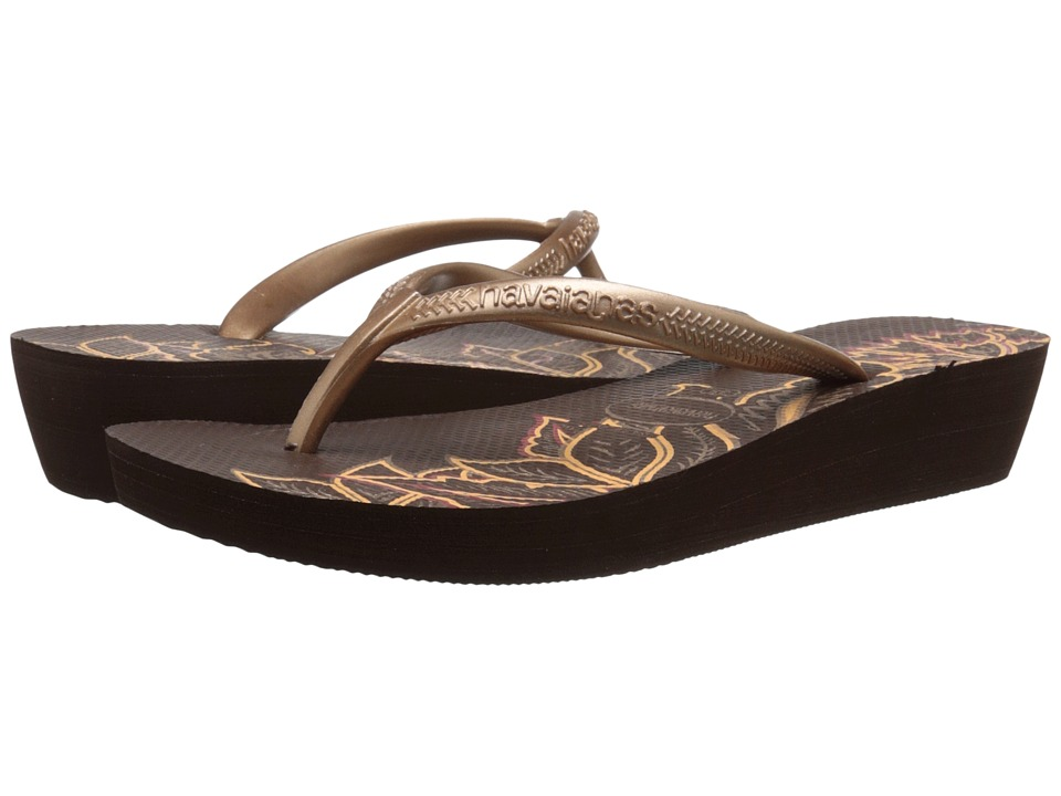 91cc2bac7bf449 ... Women s - Size UPC 887252177069 product image for Havaianas - High Light  II Flip Flops (Dark Brown  ...