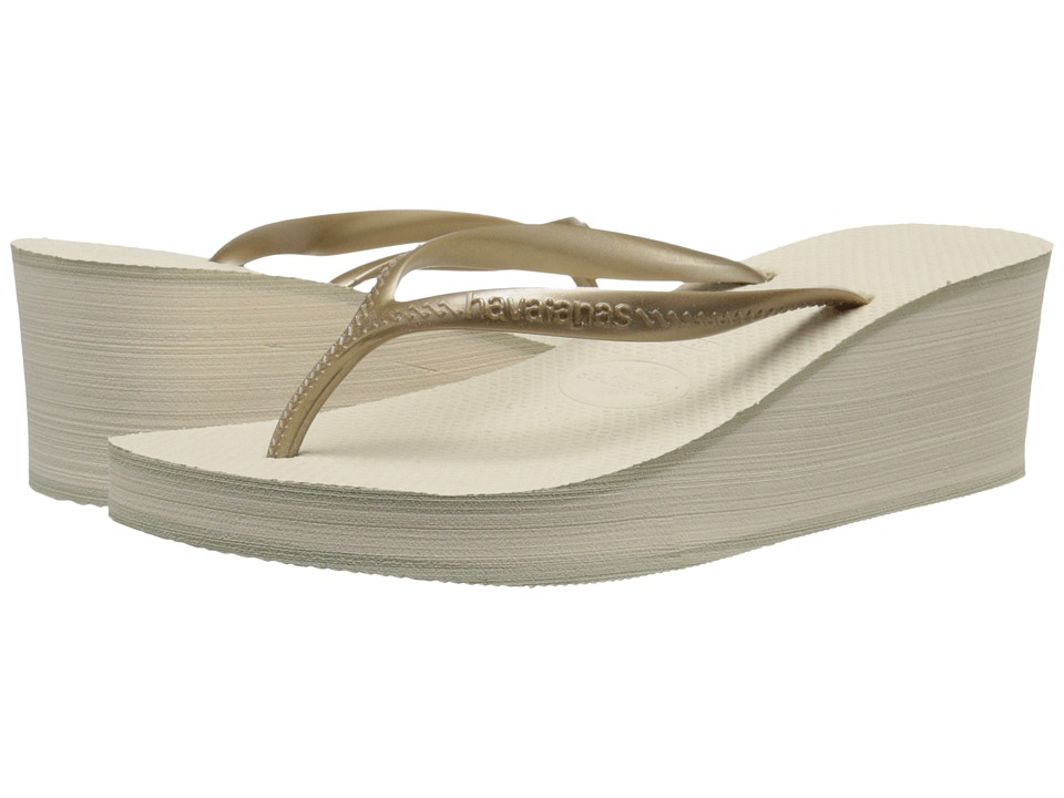 Havaianas High Fashion Flip Flops (Beige) Women