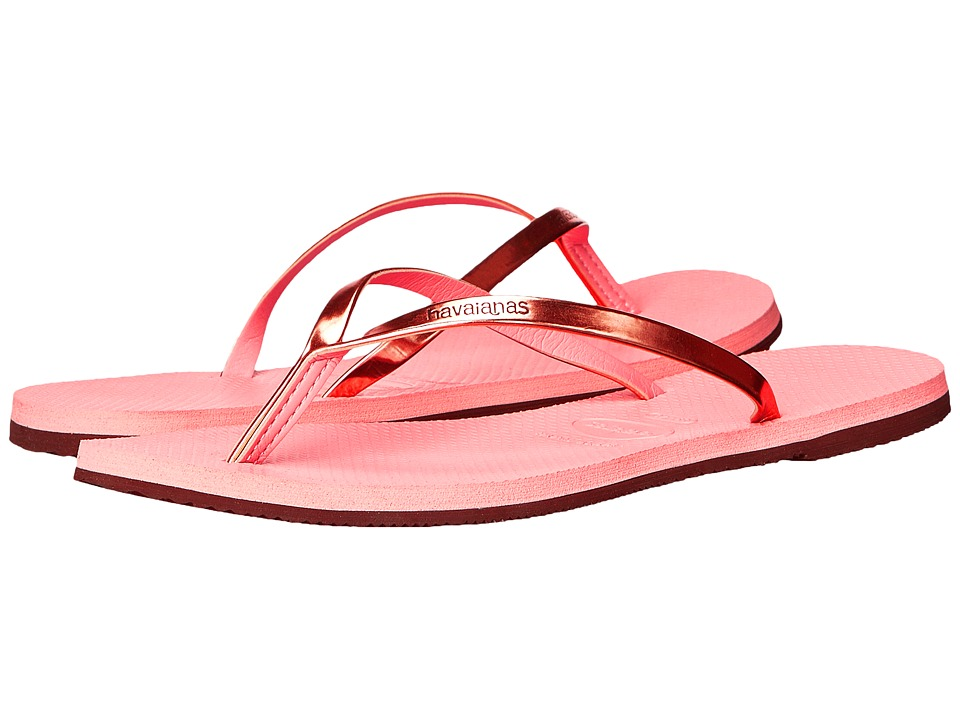 Havaianas - You Metallic Flip Flops (Light Pink) Women's Sandals