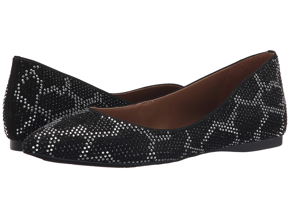 French Sole - Quad (Black Nubuck) Women's Flat Shoes