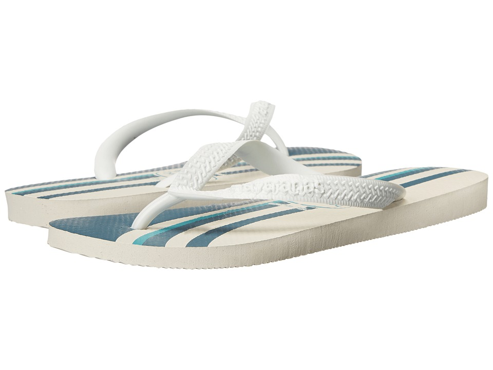 Havaianas - Top Basic Flip Flops (White/White) Men's Sandals