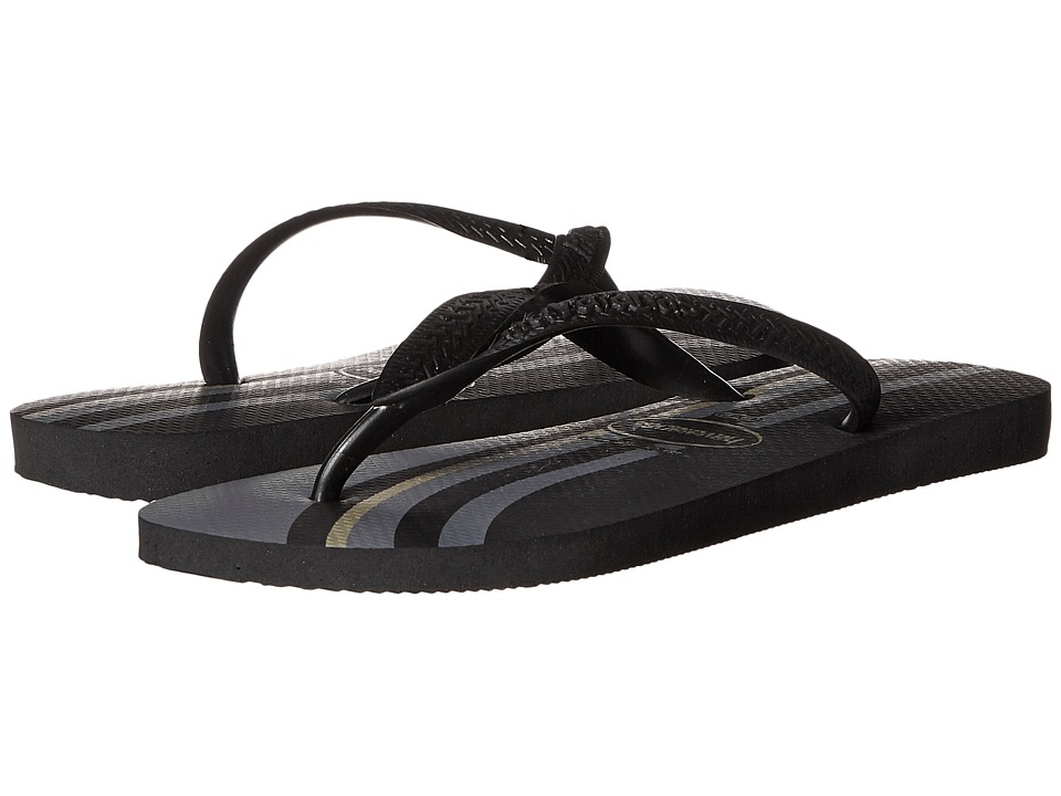 Havaianas - Top Basic Flip Flops (Black/Black) Men's Sandals