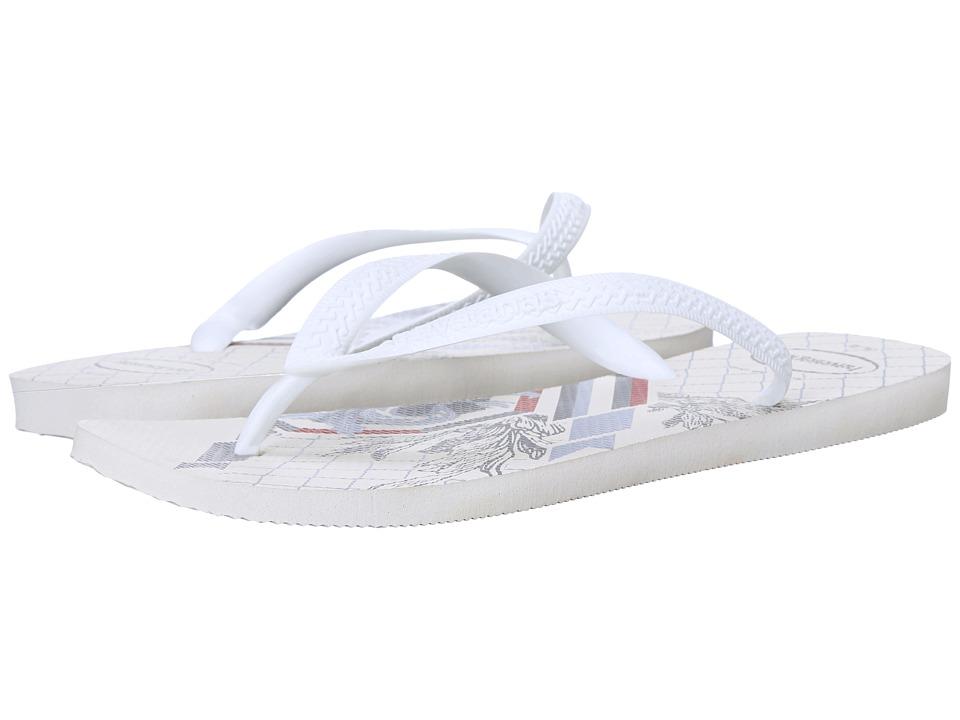 Havaianas - Bravo Flip Flops (White/White) Men's Sandals