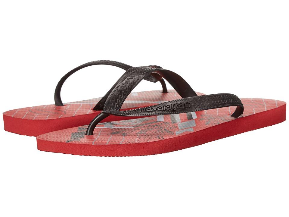 Havaianas - Bravo Flip Flops (Red) Men's Sandals