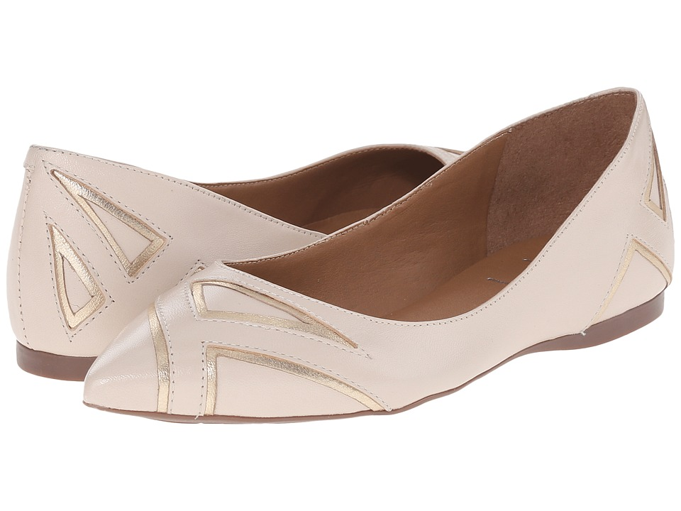 French Sole Quiver (Bone/Gold Leather) Women