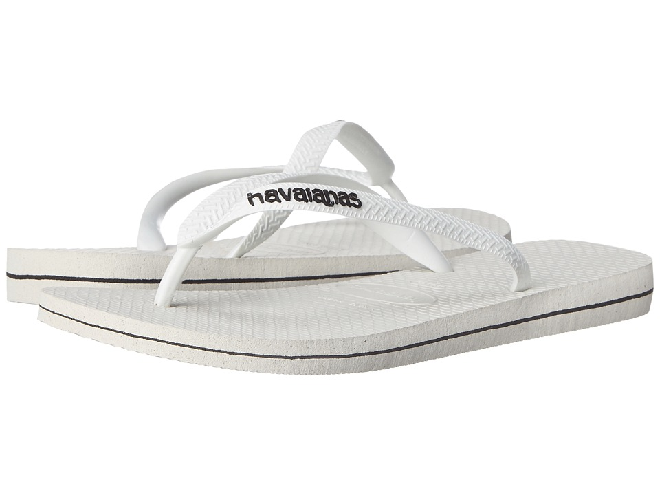 Havaianas - Logo Filete Flip Flops (White/Black) Men's Sandals