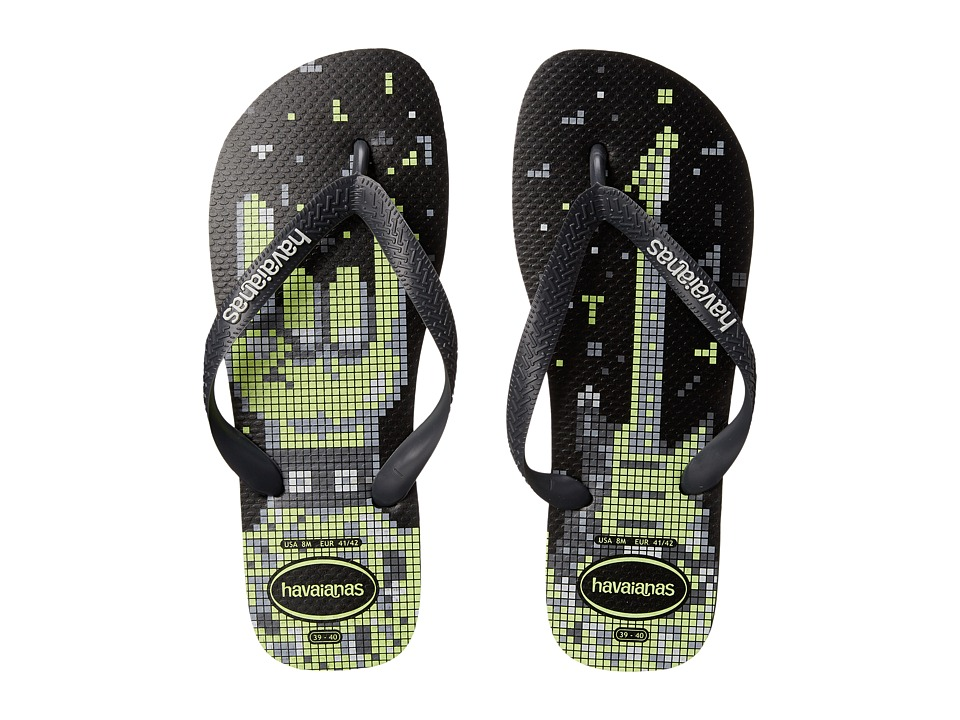 Havaianas - 4 Nite Flip Flops (Black/Grey/White) Men's Sandals