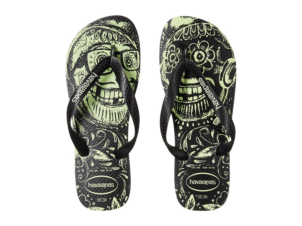 Havaianas - 4 Nite Flip Flops (Black/Black/Phosporescent) Men's Sandals