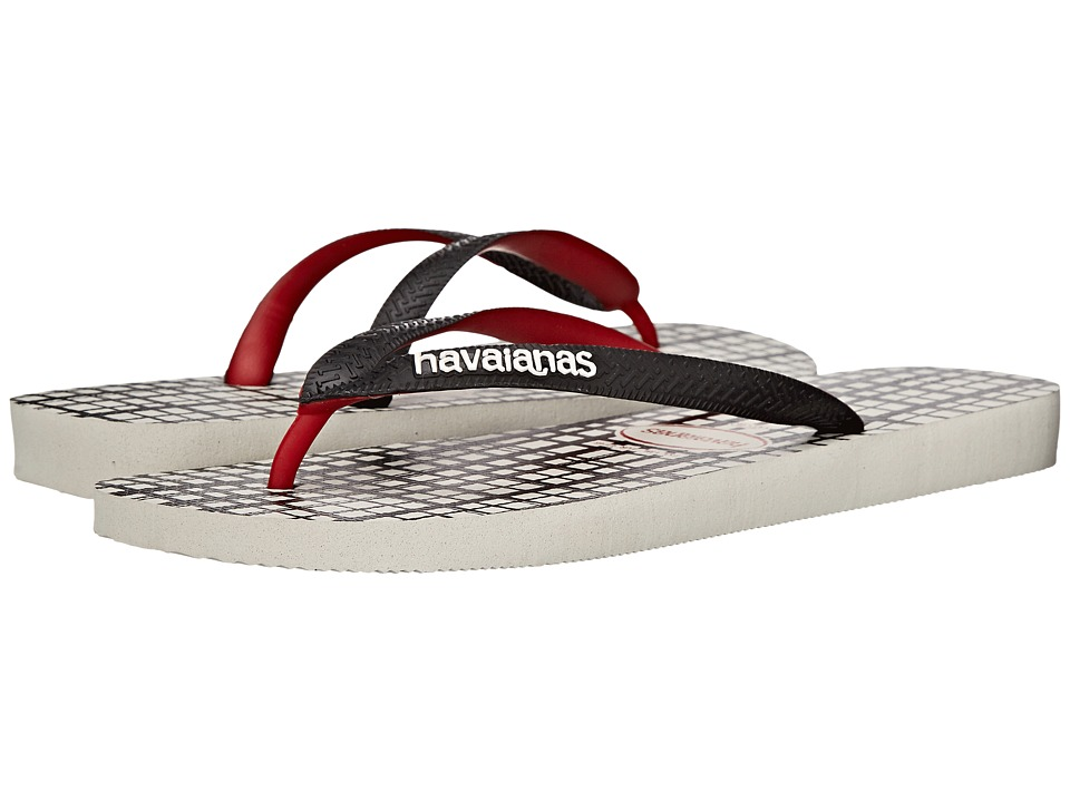 Havaianas - Top Style Flip Flops (White) Men's Sandals