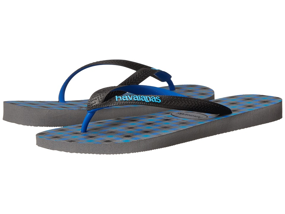Havaianas - Top Style Flip Flops (Steel Grey) Men's Sandals