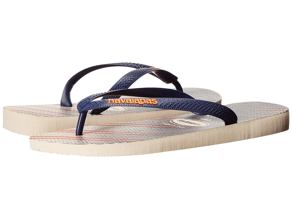 Havaianas - Trend Flip Flops (Beige/Navy Blue) Men's Sandals