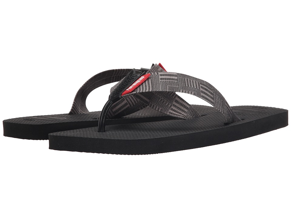 Havaianas - Urban Series Flip Flops (Black) Men's Sandals