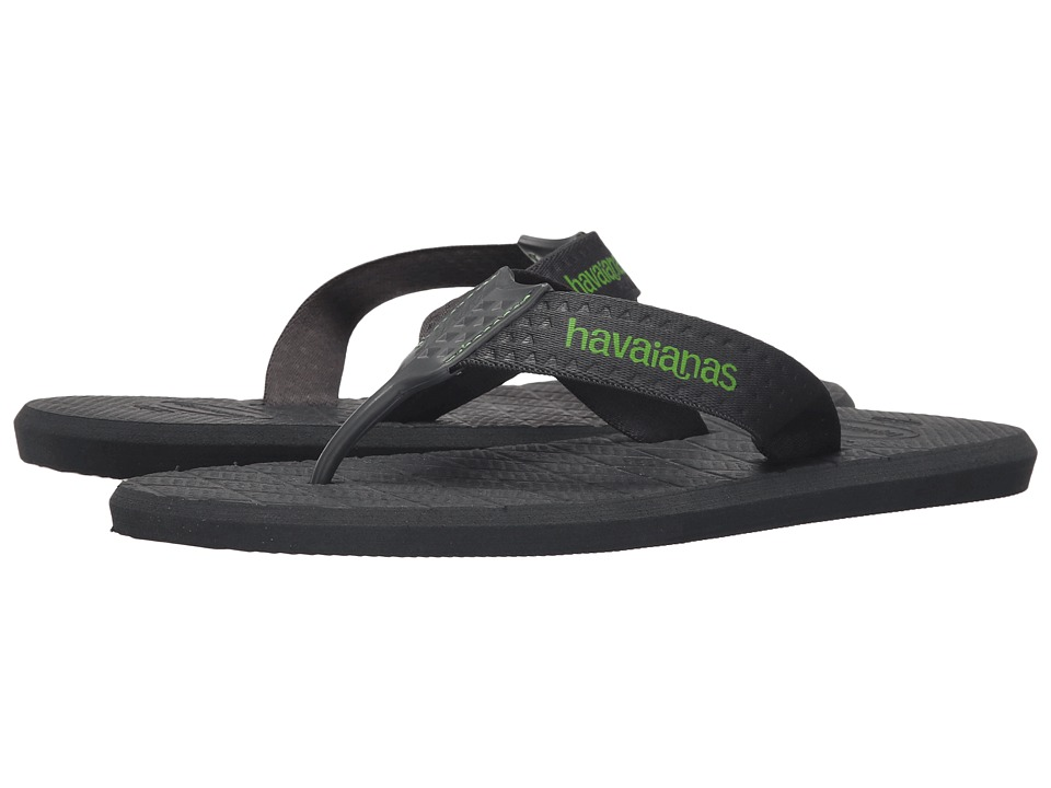 Havaianas Level Flip Flops (Dark Grey) Men