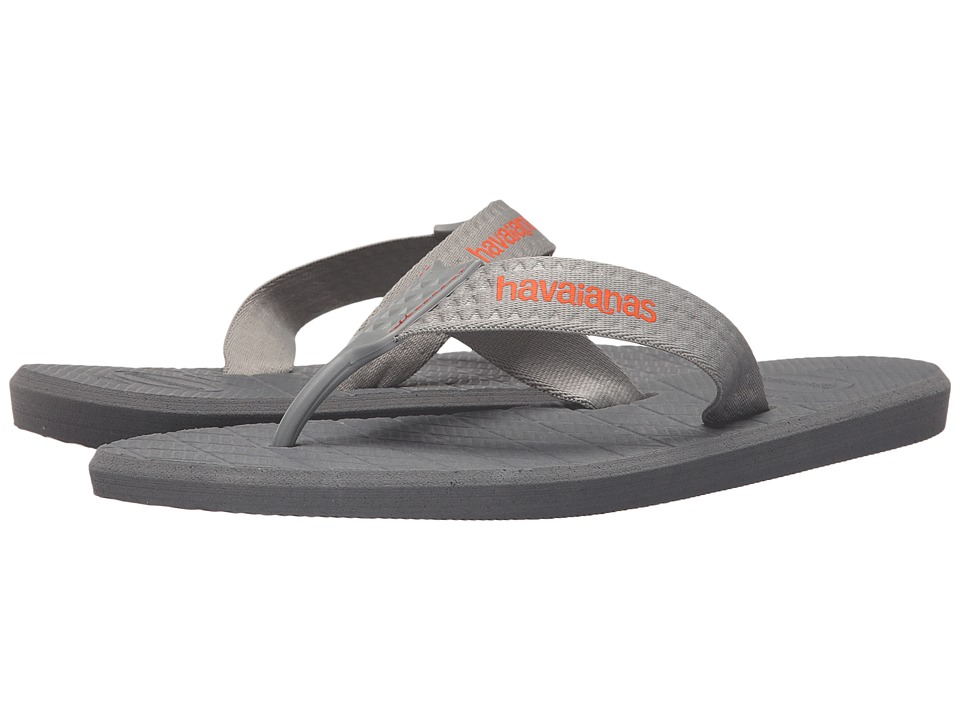 Havaianas Level Flip Flops (Steel Grey) Men