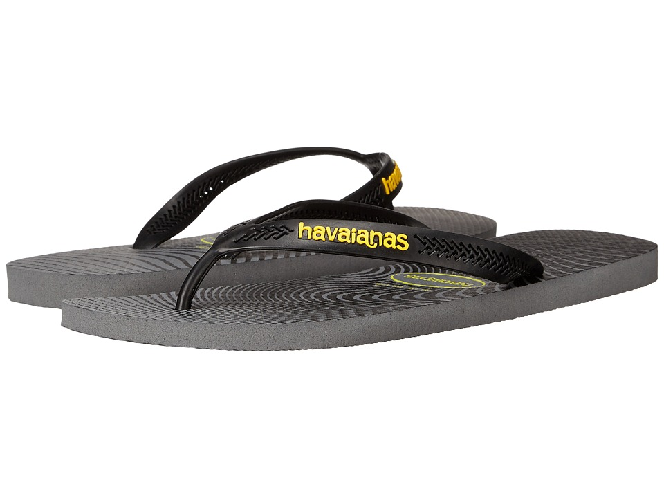 Havaianas - Aero Graphic Flip Flops (Steel Grey) Men's Sandals