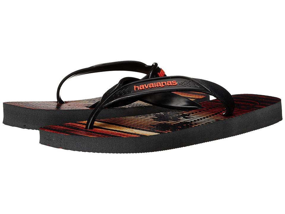 Havaianas Surf Flip Flops (Grey/Black) Men