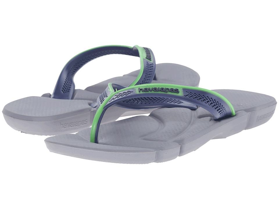 Havaianas - Power Flip Flops (Grey/Navy Blue) Men's Sandals