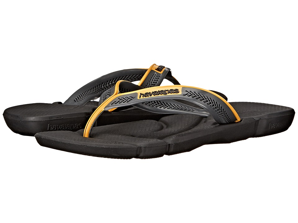 Havaianas - Power Flip Flops (Black/Dark Grey) Men's Sandals