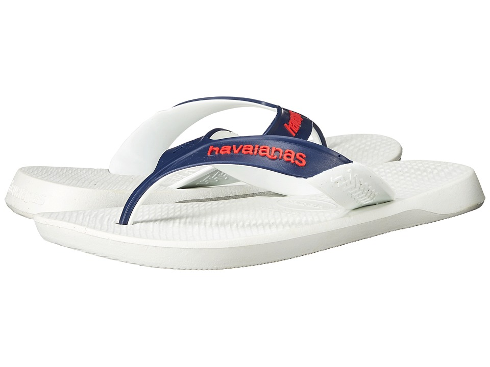 Havaianas - Dynamic Flip Flops (White/White) Men's Sandals