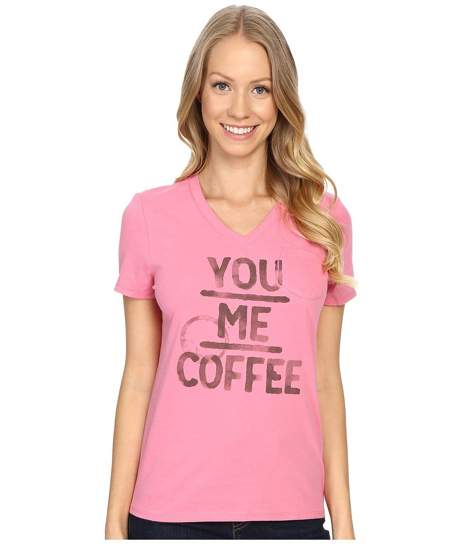 Life is good - You Me Coffee Pocket Sleep Vee (Rose Pink) Women's Pajama