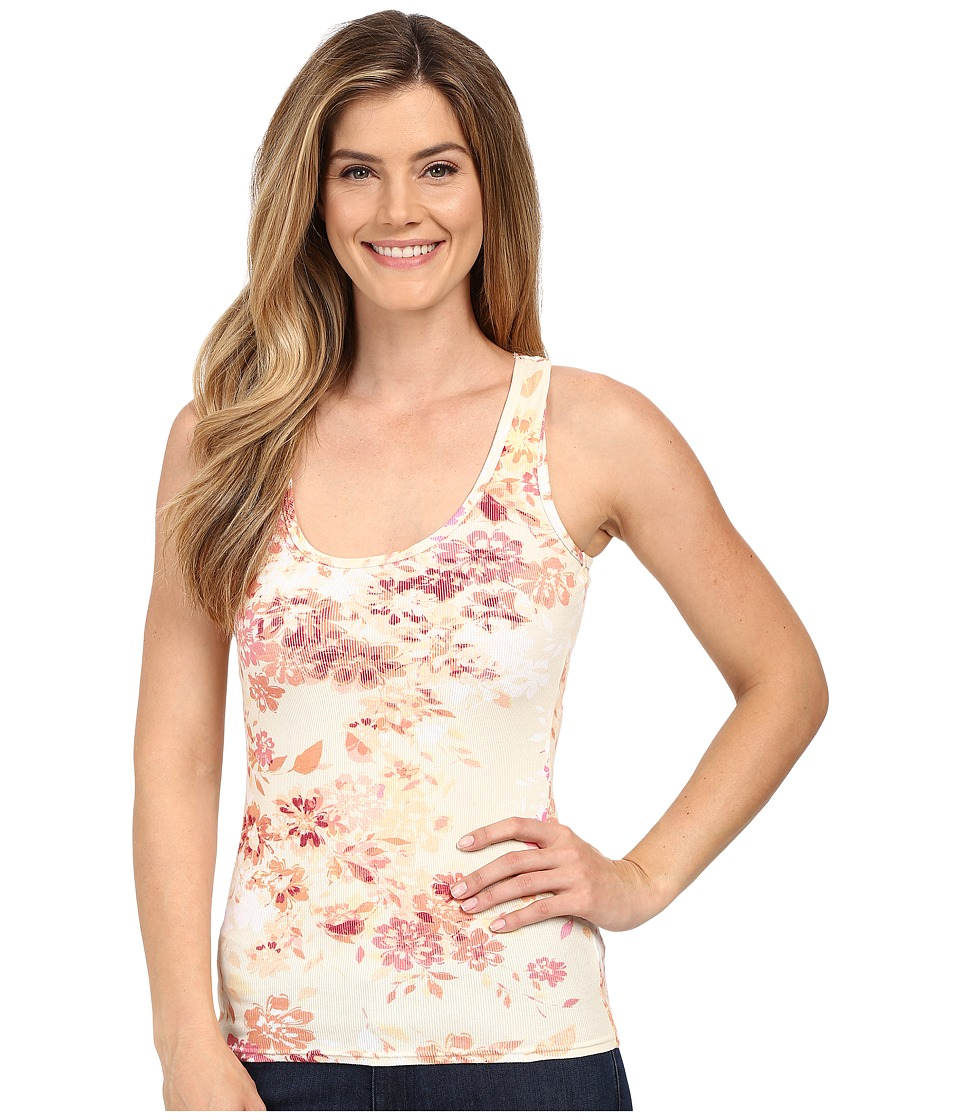 Life is good - Floral Print Sleep Tank Top (Cloud White) Women's Pajama
