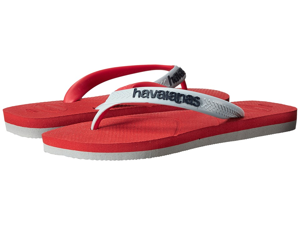 Havaianas - Casual Flip Flops (Red/Grey) Men's Sandals