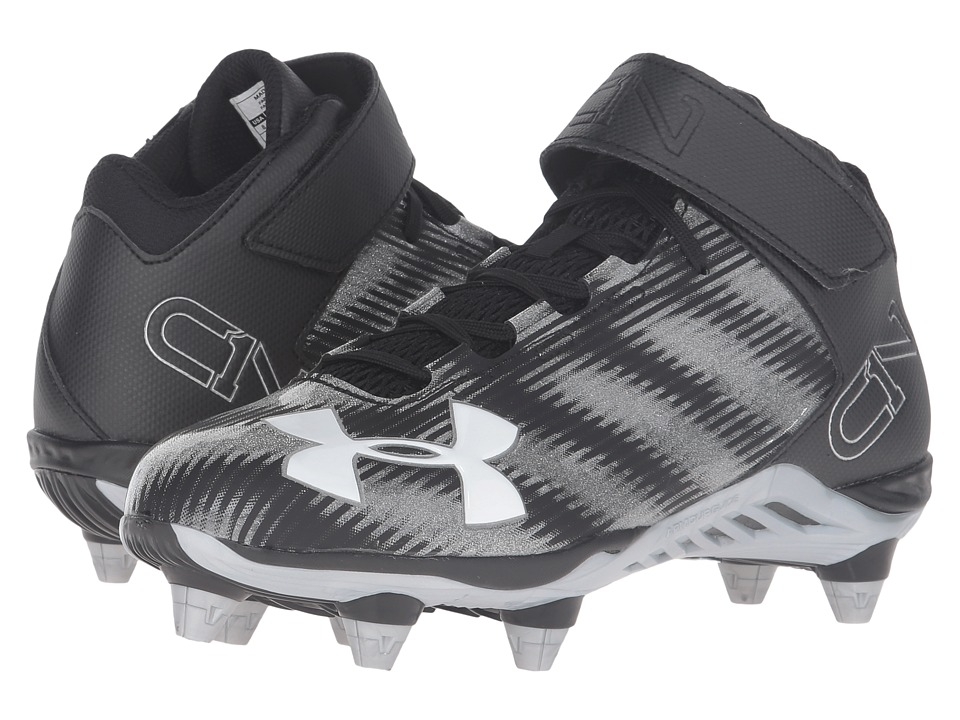 Under Armour - UA C1N Ace Boogie (Black/Metallic Silver) Men's Cleated Shoes