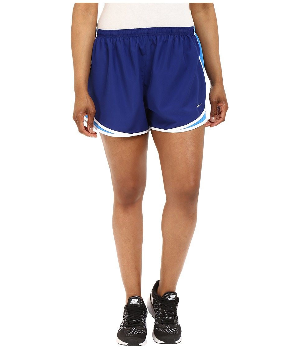 Nike - Dry Tempo Running Short (Size 1X-3X) (Deep Royal Blue/Light Photo Blue/White/Wolf Grey) Women's Shorts