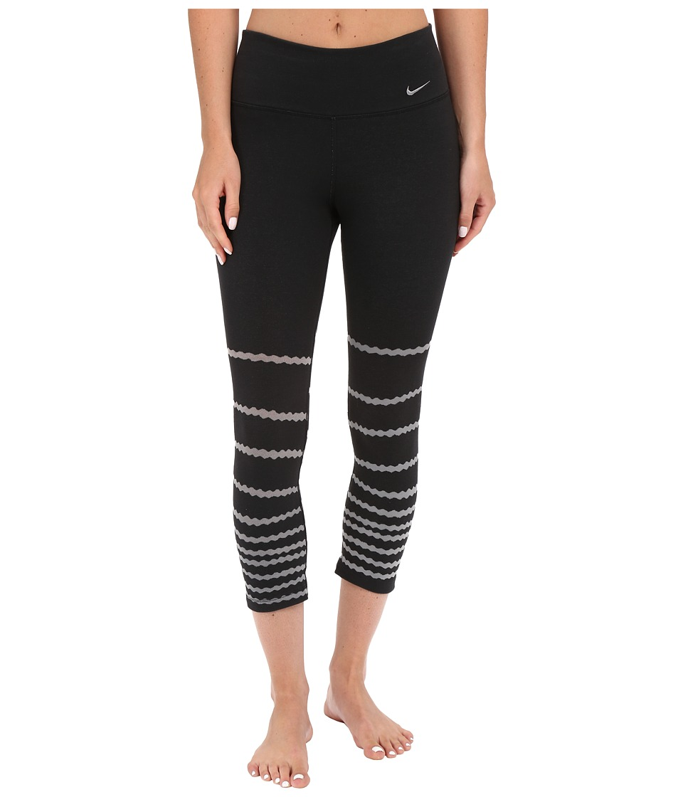 Nike - Legend Tight Burnout Capris (Black/Cool Grey/Cool Grey) Women's Workout
