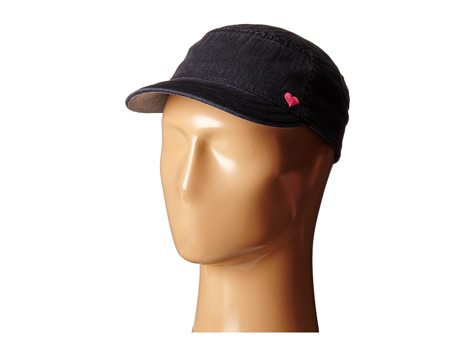 Life is good - Heart Herringbone Cadet Cap (Night Black) Caps