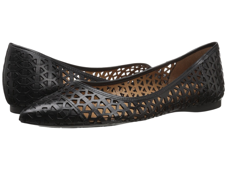 French Sole - Quantum (Black Leather) Women's Flat Shoes