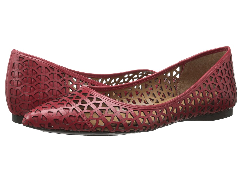 French Sole - Quantum (Red Leather) Women's Flat Shoes