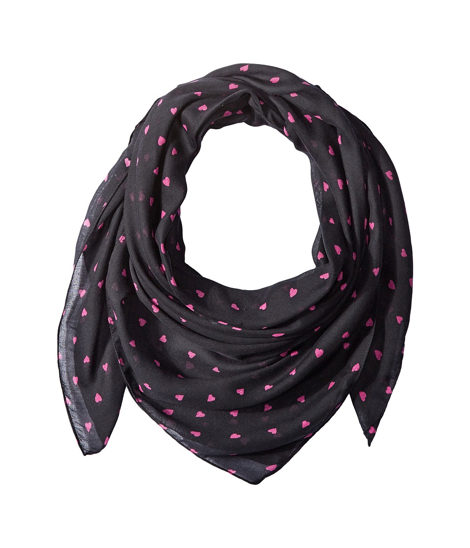 Life is good - Little Hearts Market Scarf (Night Black) Scarves
