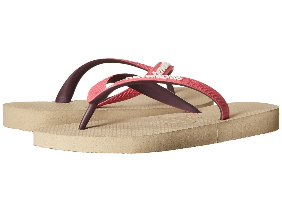 Havaianas - Top Mix Flip Flops (Sand Grey/Pink) Women's Sandals
