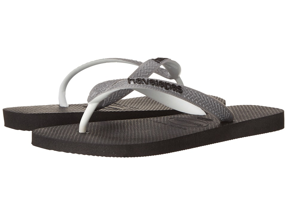 Havaianas Top Mix Flip Flops (Black/Steel Grey) Women