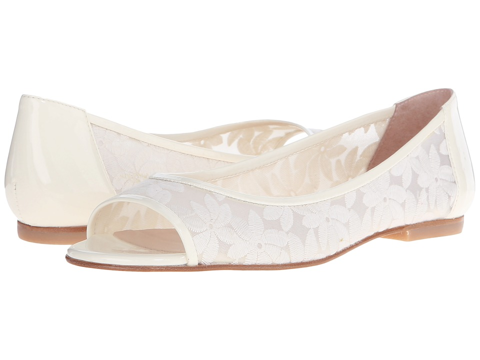 French Sole - Noir (Off-White Floral) Women's Flat Shoes