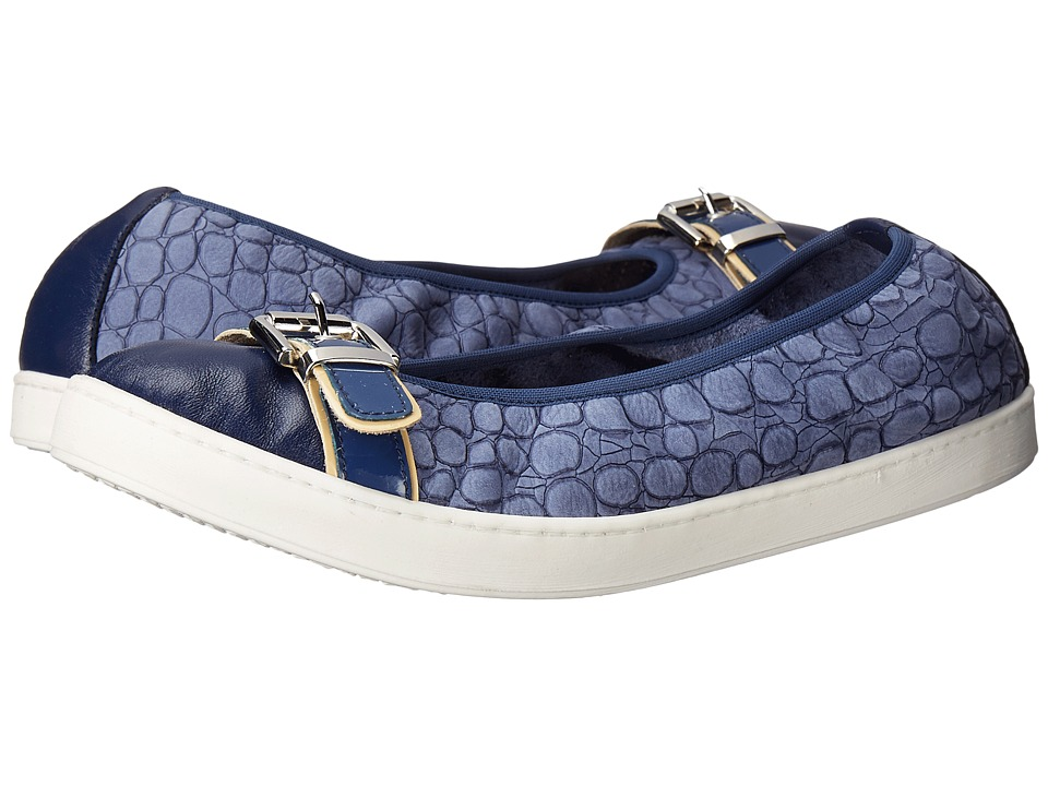 French Sole - Outdoors (Blue Nappa) Women's Flat Shoes