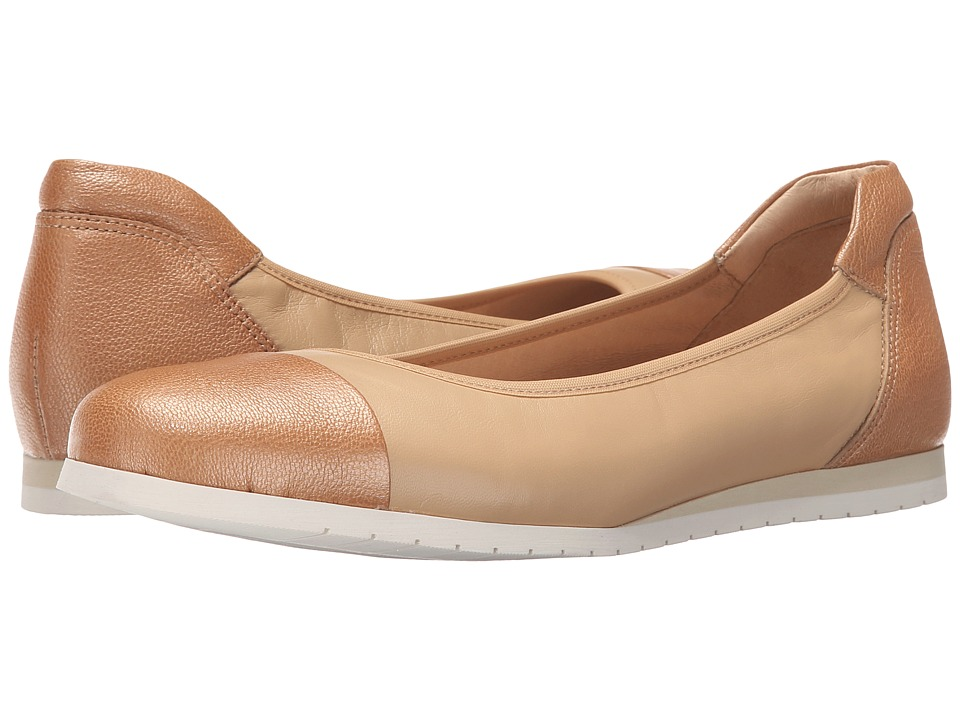 French Sole - Oblige (Beige Nappa) Women's Flat Shoes