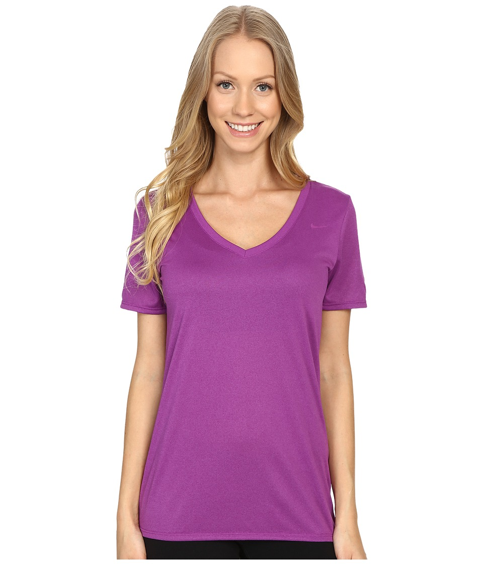 Nike Legend 2.0 V-Neck Training Tee (Cosmic Purple/Cosmic Purple) Women