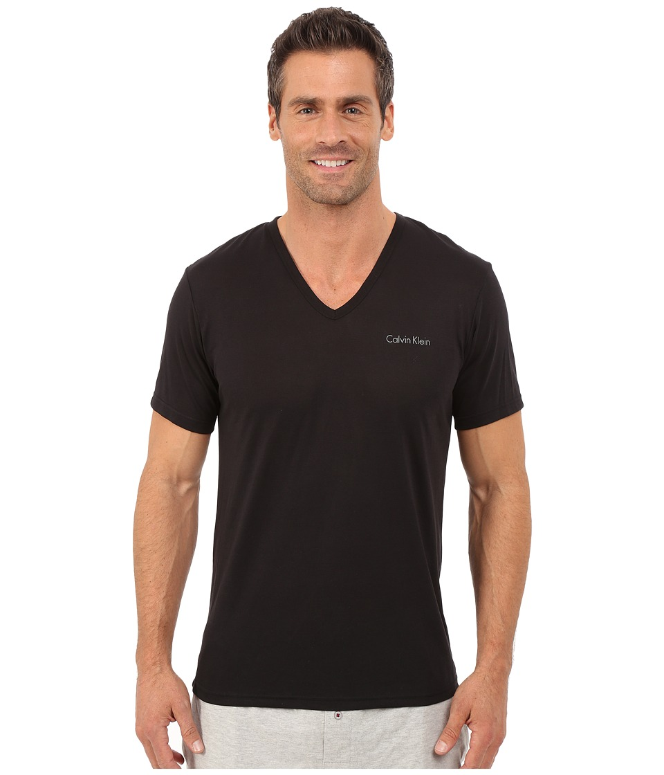 Calvin Klein Underwear - Liquid Luxe Short Sleeve V-Neck (Black) Men's T Shirt