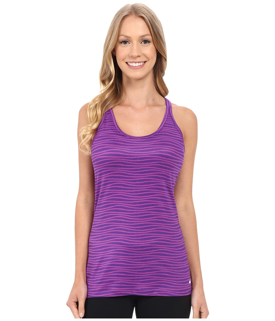 Nike - Get Fit Veneer Tank Top 2 (Cosmic Purple/Court Purple/White) Women's Sleeveless