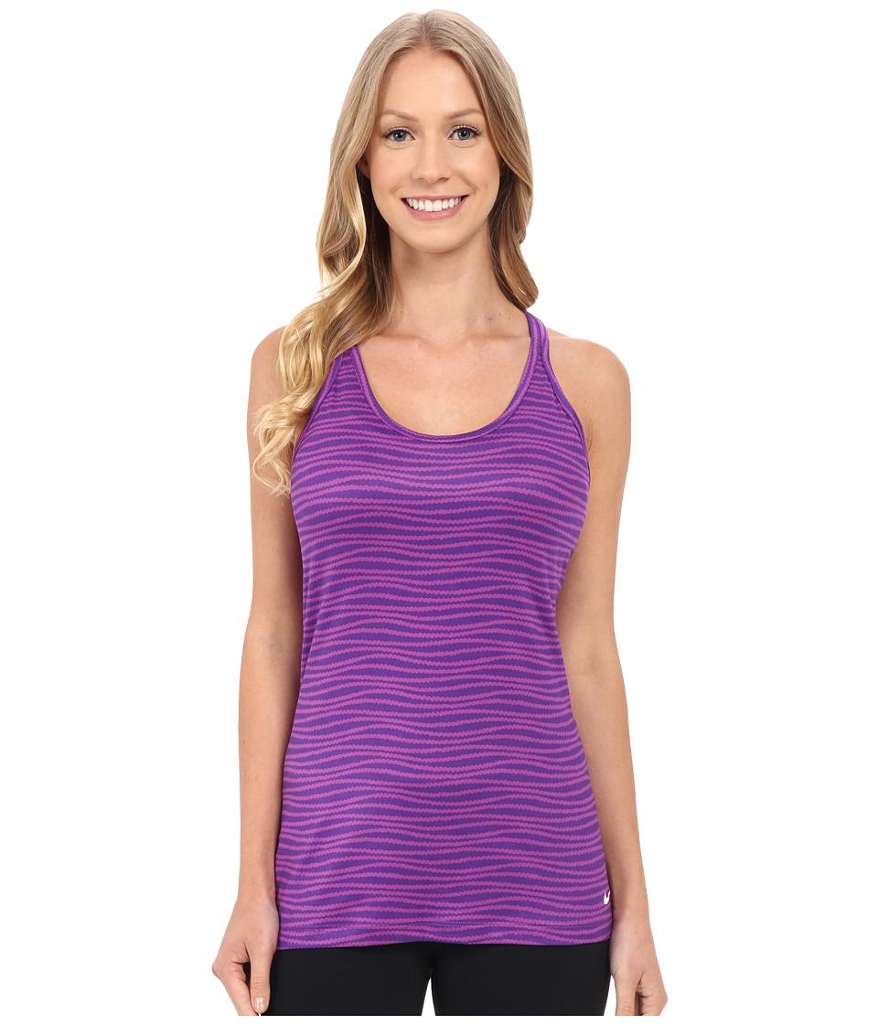 Nike - Get Fit Veneer Tank Top 2 (Cosmic Purple/Court Purple/White) Women's Sleeveless