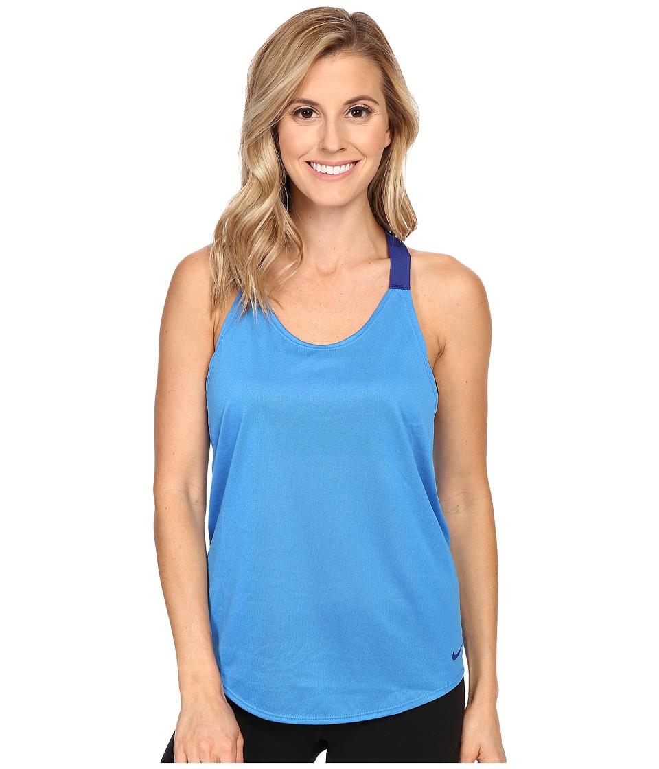 Nike - Elastika Solid Tank Top (Light Photo Blue/Deep Royal Blue/Deep Royal Blue) Women's Sleeveless