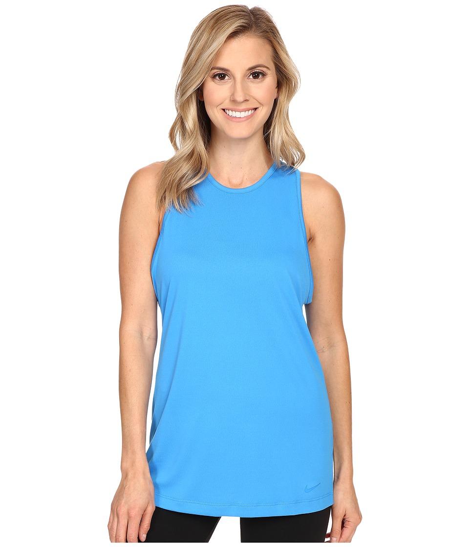 Nike - Dri-FIT Tomboy Tank Top (Photo Blue/Photo Blue) Women's Sleeveless
