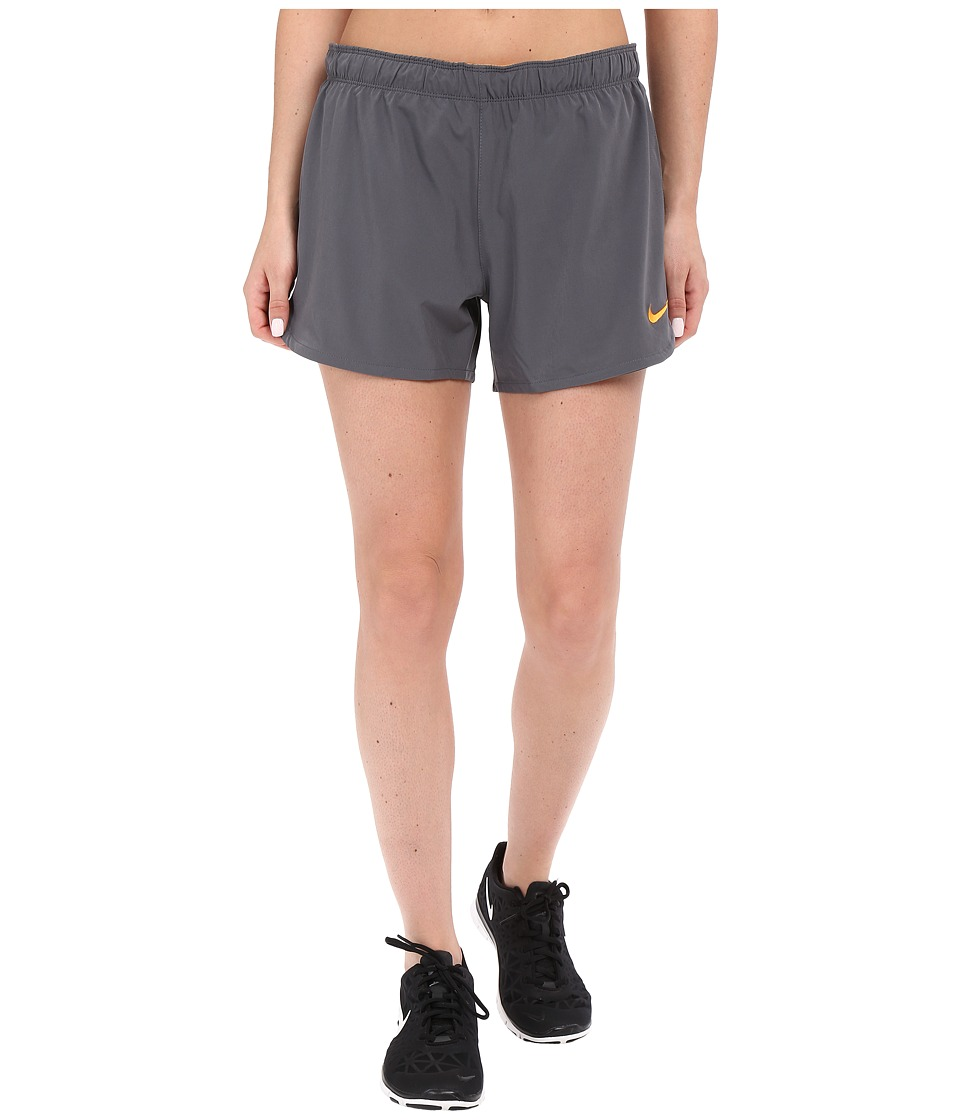 Nike - Phantom 2-in-1 Training Short (Dark Grey/Vivid Orange/Vivid Orange) Women