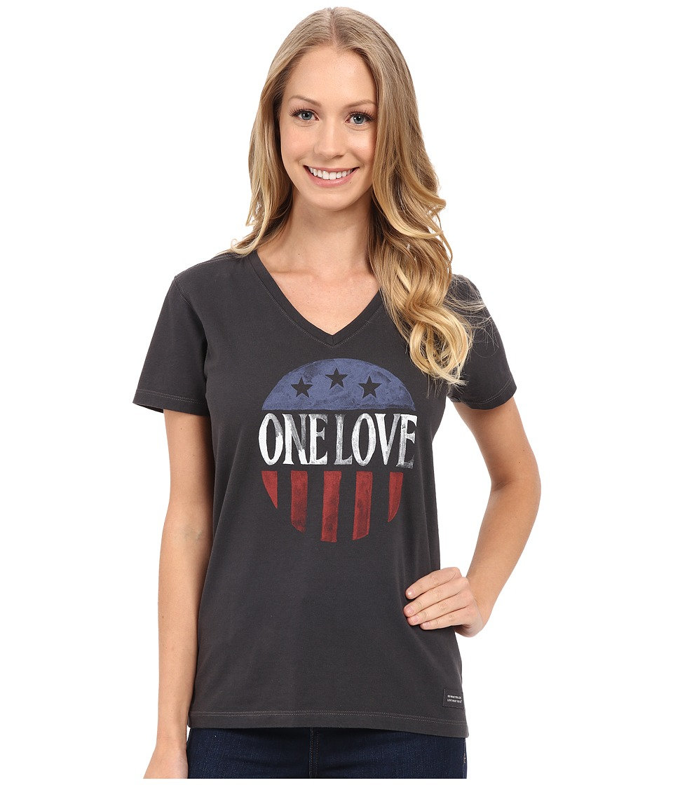 Life is good - One Love July 4th Crusher Vee (Night Black) Women