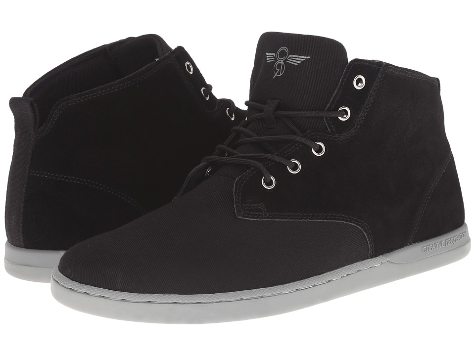 Creative Recreation - Vito (Black Twill) Men's Lace up casual Shoes
