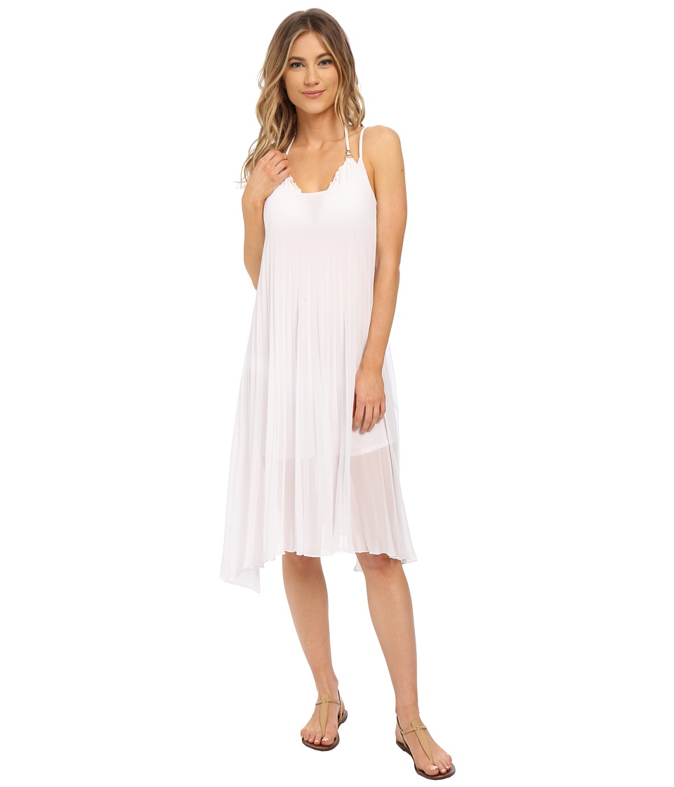 Bleu Rod Beattie - Over The Edge A-Line Pleated Dress (White) Women's Dress