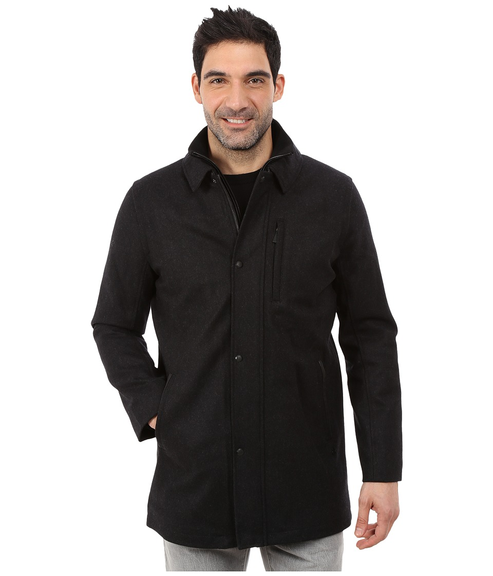 Calvin Klein - Wool Car Coat (Charcoal) Men's Coat
